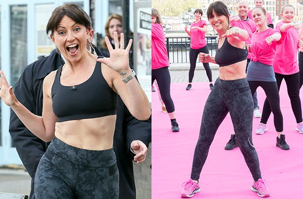Davina McCall shows off her toned tummy
