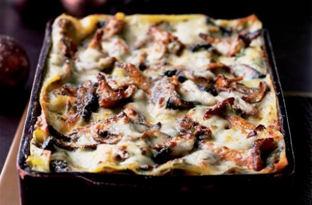 Wild mushroom lasagne