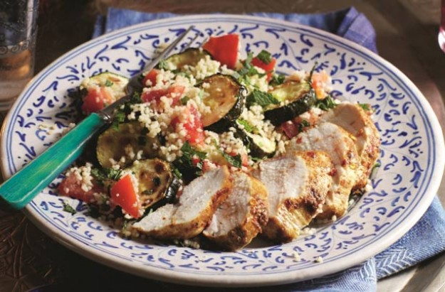 Slimming World's spiced chicken and courgette couscous