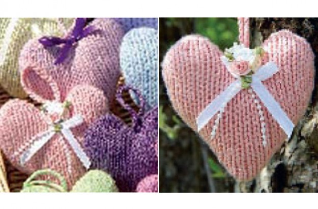 Heart knitting pattern