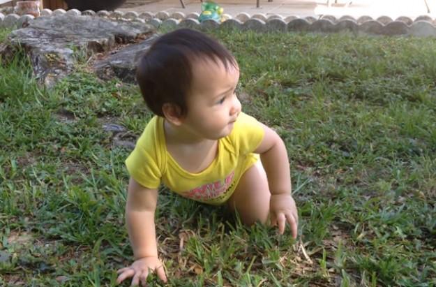 Baby walking surprise video
