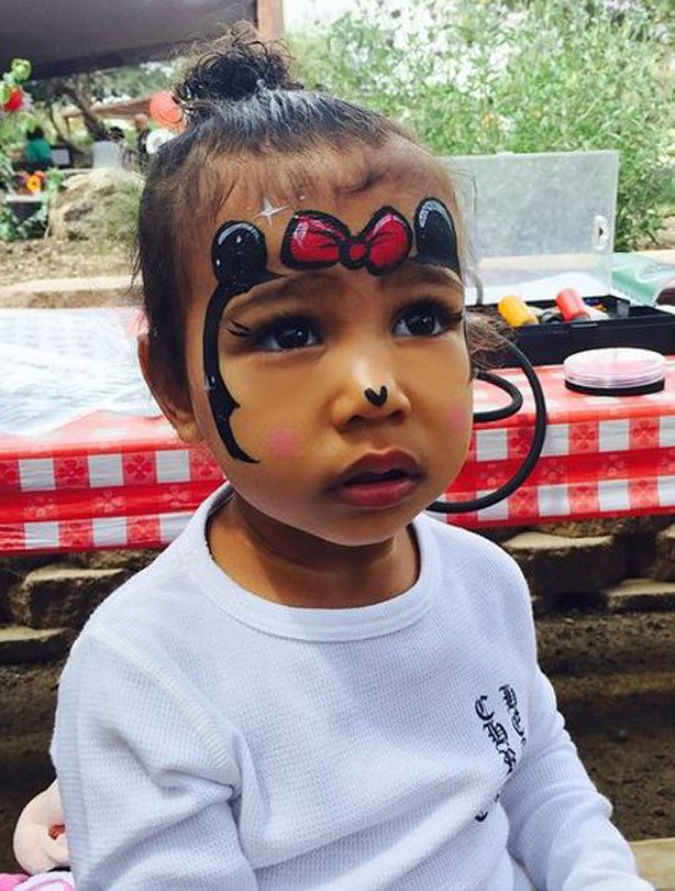 North West in fancy dress as Minnie Mouse