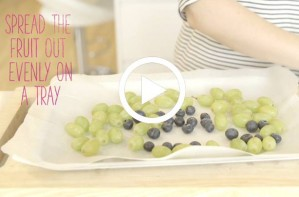 Food hack: How to use frozen fruit as ice cubes