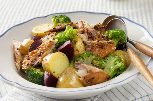 Warm potato salad with smoked mackerel recipe goodtoknow for Mackerel fish recipe