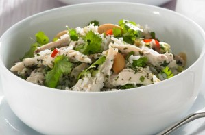 Thai chicken rice salad
