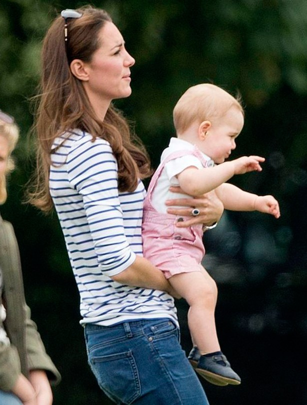 Kate Middleton and Prince George, June 2014