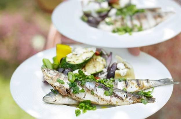 Barbecued sardines