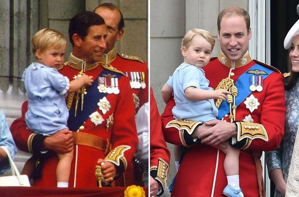 Prince George at Buckingham Palace Trooping the Colour
