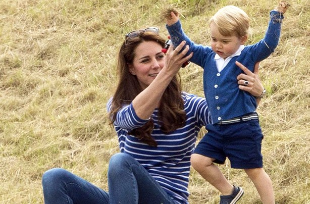 Kate Middleton and Prince George at the polo