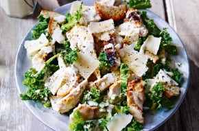 New York kale and chicken Caesar salad