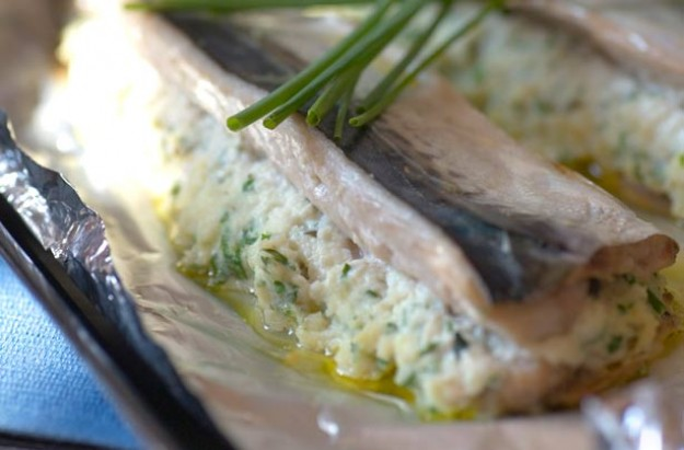 Gino D'Acampo's ricotta and herb mackerel
