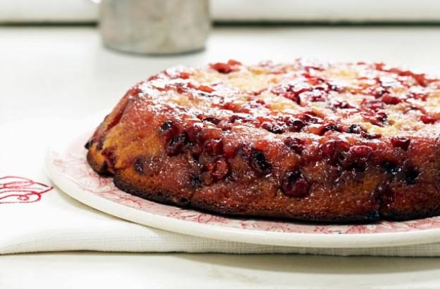 Rachel Allen's upside down cranberry cake