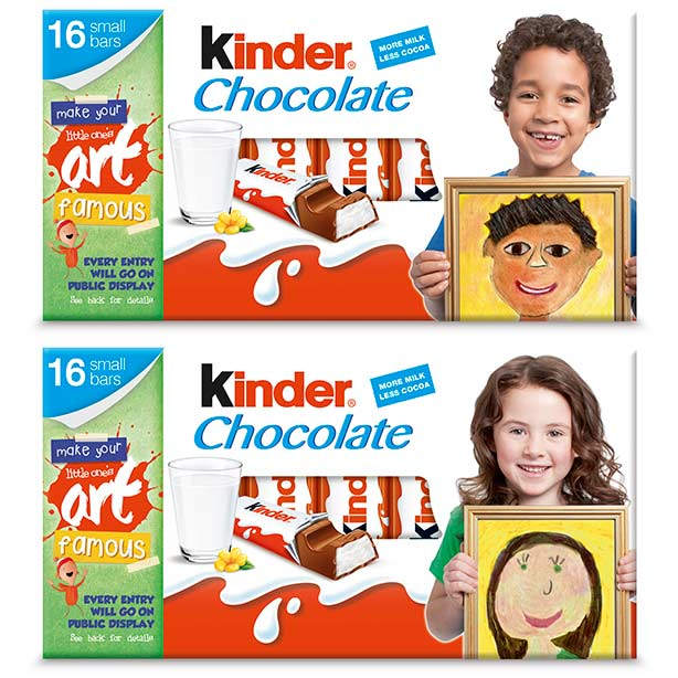 the 6 winners will be invited to a fancy photoshoot in london to take the pictures for the kinder chocolate packs and made to feel like the - Kinder Kid Competition