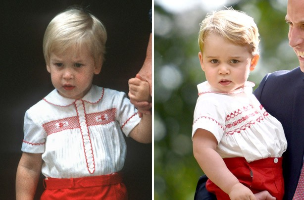 Prince William and Prince George outfits