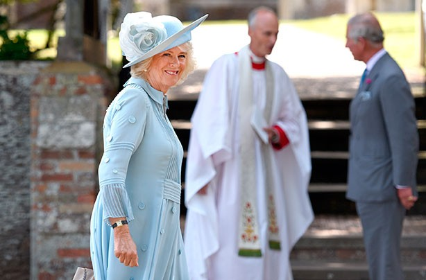 Camilla looked chic for Charlotte's christening