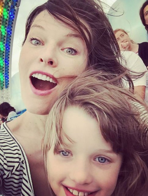 Mila Jovovich kids