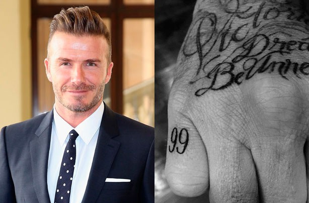 David Beckham gets a new tattoo