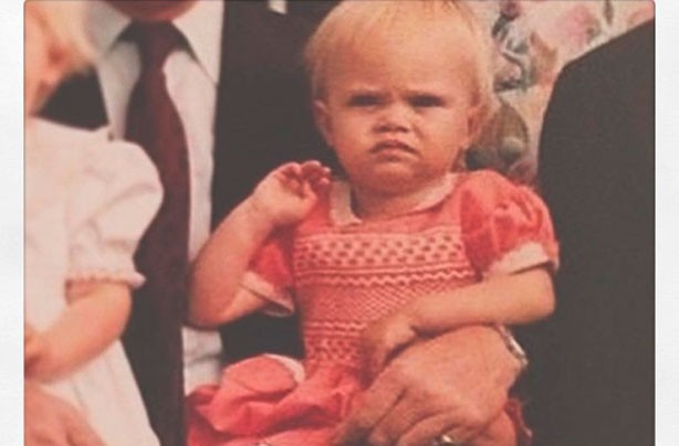 Cara Delevingne as a baby