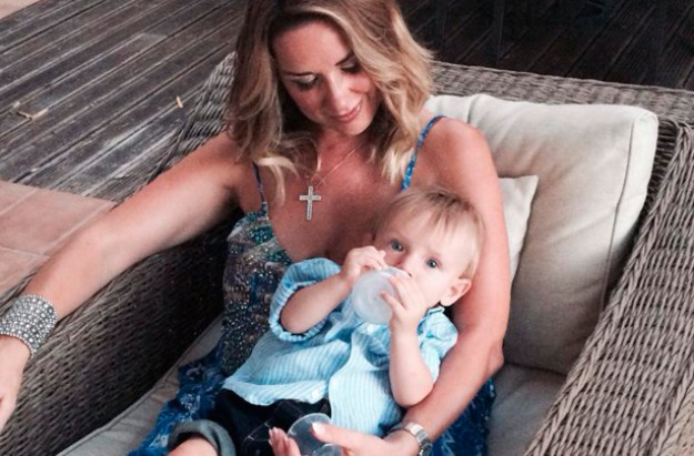 Claire Sweeney and Jaxon
