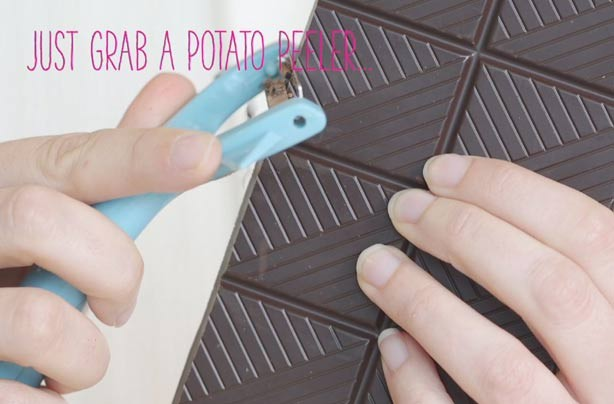 Food hack: How to grate chocolate with a potato peeler