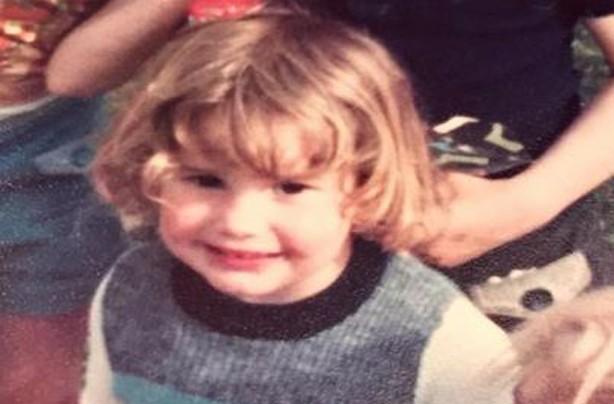 Sam Bailey as a child