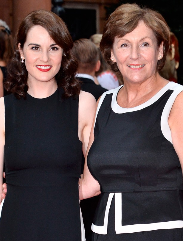 Michelle Dockery and her mum