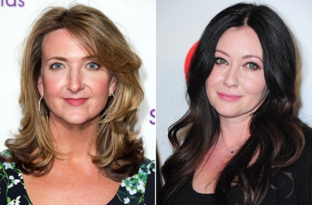 Victoria Derbyshire and Shannen Doherty breast cancer