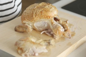 How to carve a roast chicken