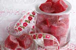 Rasberry and passionfruit pastilles