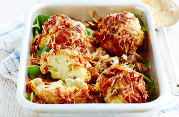 Mini roasted cauliflowers with tomato sauce recipe - goodtoknow