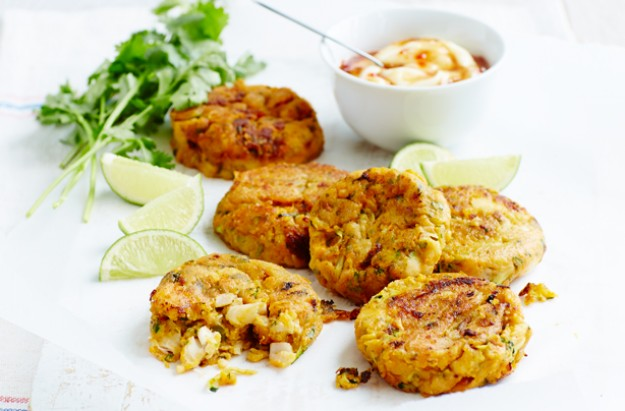 Sweet potato and courgette fish cakes