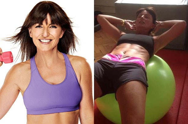 Davina McCall keeping fit