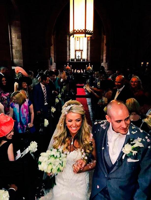 Kelly-Marie Stewart on her wedding day