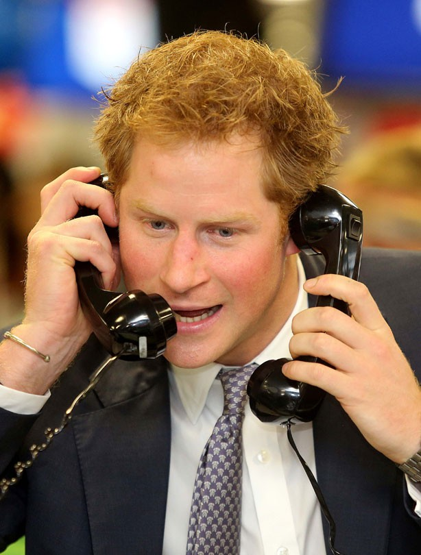 Prince Harry on the phone