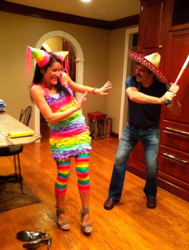 how to make a pinata costume