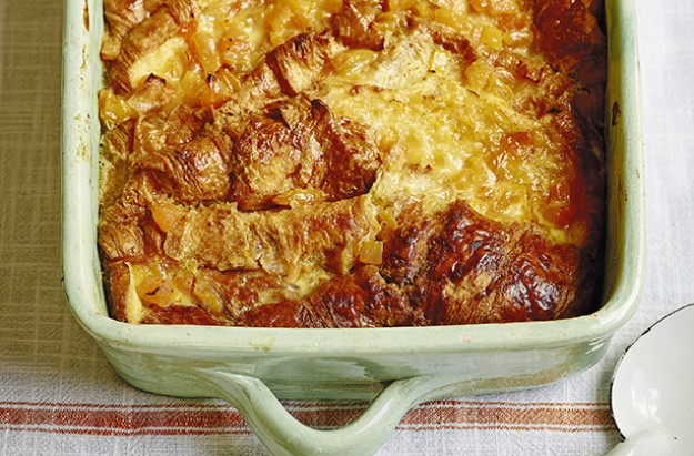 Lisa Faulkner's croissant and apricot bread and butter pudding