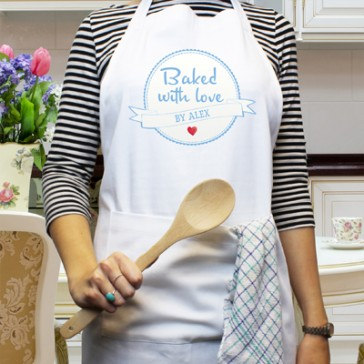 Personalised 'Baked with Love' Apron