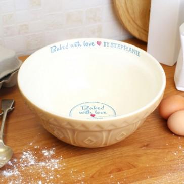 Personalised Ceramic Mixing Bowl