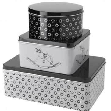 Festive Cake Tins with Lids