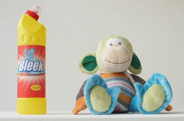 Dutch PSA experiement proves household cleaners are more appealing to children than toys