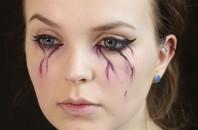 Bleeding eyes make-up tutorial