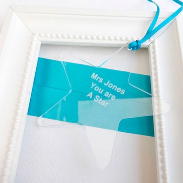 Personalised Gift For Teacher Star Decoration