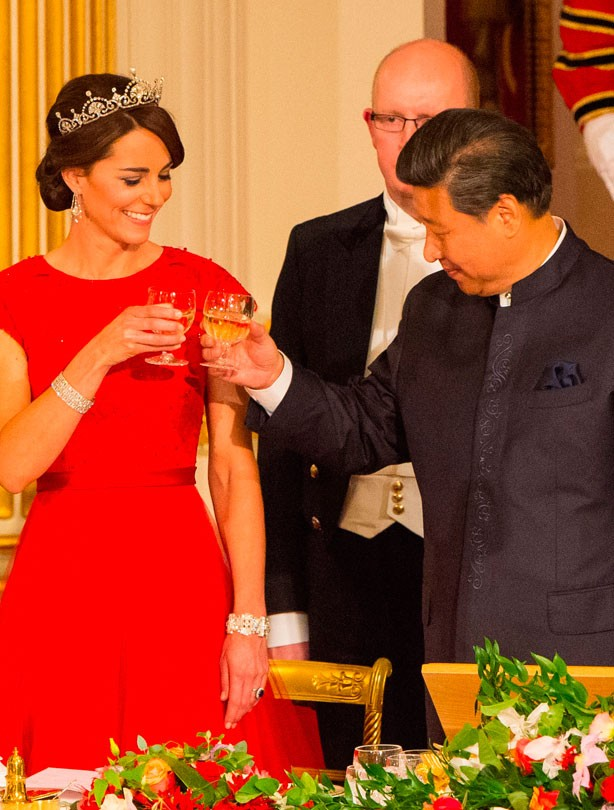 Kate Middleton at her first state banquet