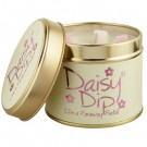 Lily-Flame Daisy Dip Candle in a Tin
