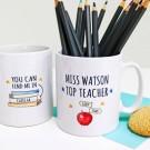 Personalised Top Teacher Mug