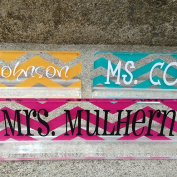 Personalised teacher gift acrylic desk name plate