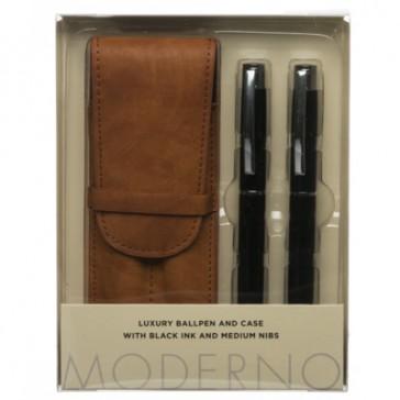 Moderno Luxury Pen and Pouch Ballpoint Pen and Ballpoint Pen Gift Set