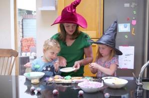 Kids Kitchen spooky Halloween cookies