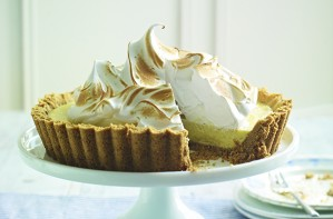 Classic key lime pie with meringue topping
