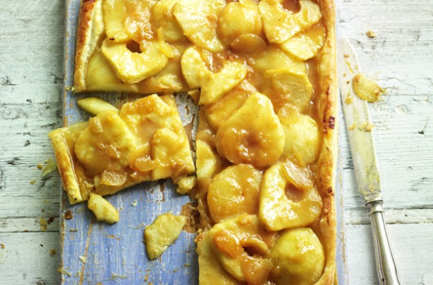 Pear & ginger caramel Puff Pastry tart